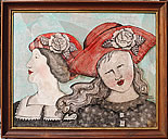 "Sandy Mastroni ""red Hat Ladies"" 19"" x 22.5"""