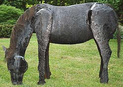 "ArtBrut.com - JOe DeMarco sculpture ""Pecycled Horse"" price on request"